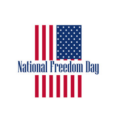 National freedom day 1st of february flag usa vector