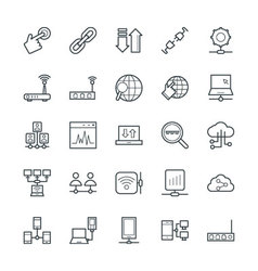 Networking cool icons 3 vector