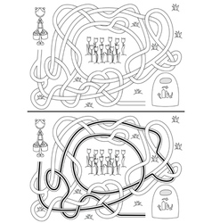 Recycling maze vector image