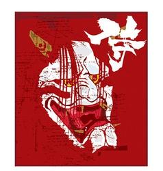 Samurai mask vector