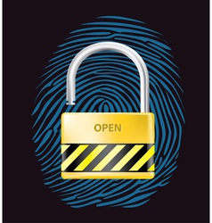 Security lock vector image vector image
