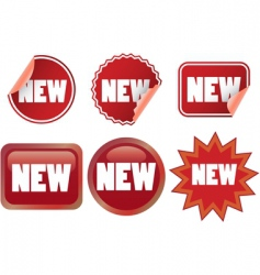 set of new labels vector image