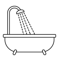 Shower icon outline style vector