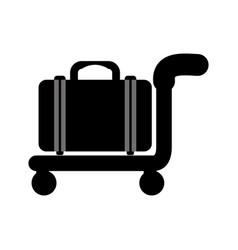 travel bag symbol vector image