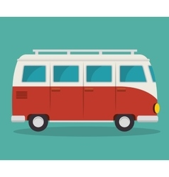 Van vehicle tourism icon vector