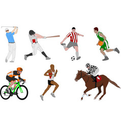 various sports detailed vector image