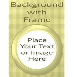 Frame Porthole on Yellow Background vector image