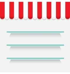 Empty shelves on light grey wall image vector