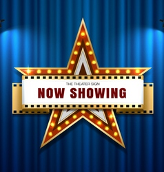 Theater sign star vector