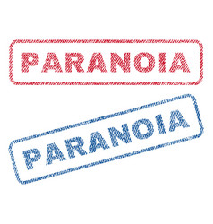 Paranoia textile stamps vector
