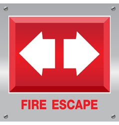 Fire escape sign vector