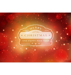 Red Christmas typography background vector image