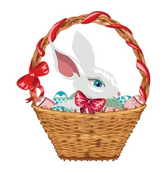 Easter bunny in basket2 vector