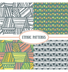 Set of tribal seamless patterns it can be used for vector