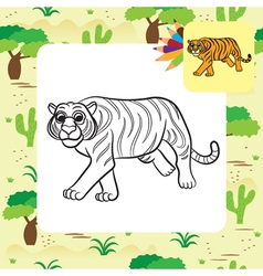 tiger coloring page vector image