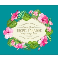 Beautiful tropic card vector