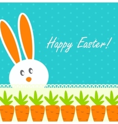 Happy easter funny background with rabbit and vector