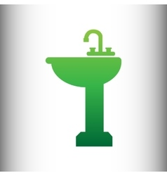Bathroom sink sign vector