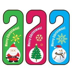 Christmas Door hanger vector image