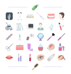 Aboratory cosmetology makeup and other web icon vector