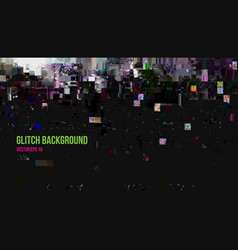 Abstract glitch effect background vector