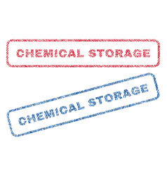 Chemical storage textile stamps vector