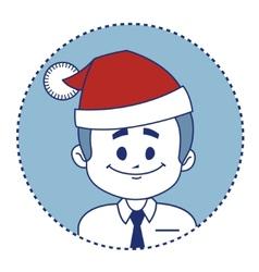 Christmas character smiling santa claus vector
