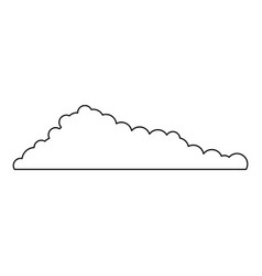 cloud monochrome in white background vector image vector image
