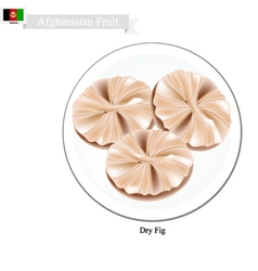 Dried figs a famous fruit in afghanistan vector