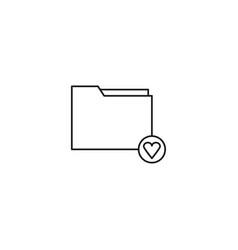 favorite folder icon vector image vector image