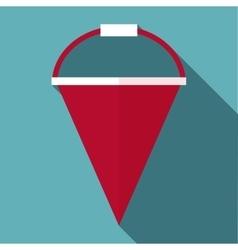 Fire bucket icon flat style vector