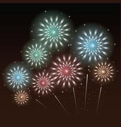 fireworks and celebration vector image