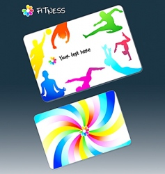 fitness business card vector image vector image
