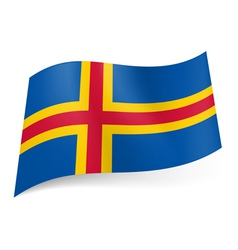 Flag of Aland Islands vector image vector image