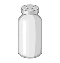 Glass medicine bottle icon cartoon style vector
