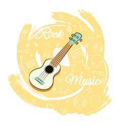 Guitar rock music-04 vector