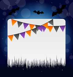 Halloween invitation with hanging flags vector image vector image