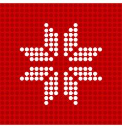 Icon snowflake vector