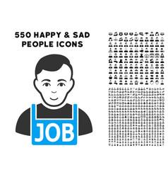 Jobless icon with bonus vector