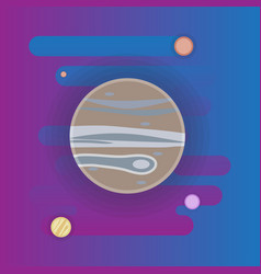 Jupiter icon - flat space elements vector