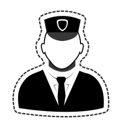 police agent avatar icon vector image
