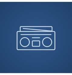 Radio cassette player line icon vector image