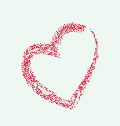 red heart with shadow vector image vector image