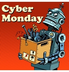 Robot cyber monday gadgets and electronics vector