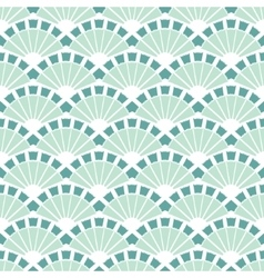 Sea Green Fans Abstract Seamless Pattern vector image