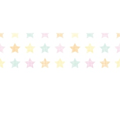 Stars textile textured pastel horizontal seamless vector image vector image
