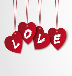 Valentine background with hearts and love vector image