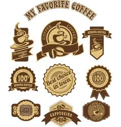 vintage retro coffee badges vector image