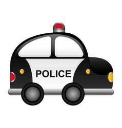 Police patrol vehicle cartoon vector