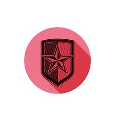 Heraldry theme conceptual icon protection shield vector